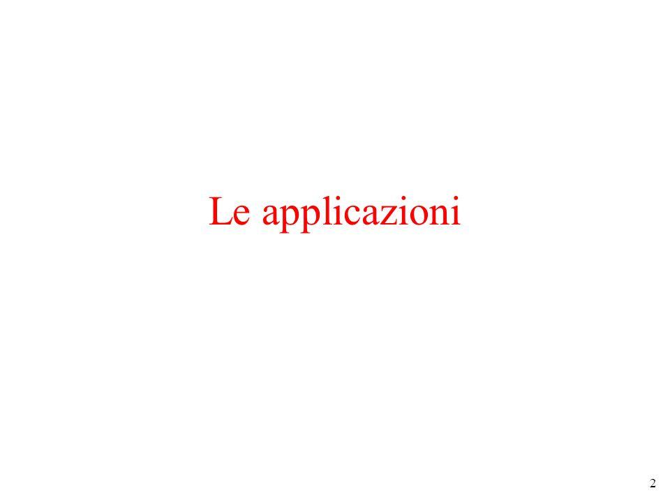 2 Le applicazioni