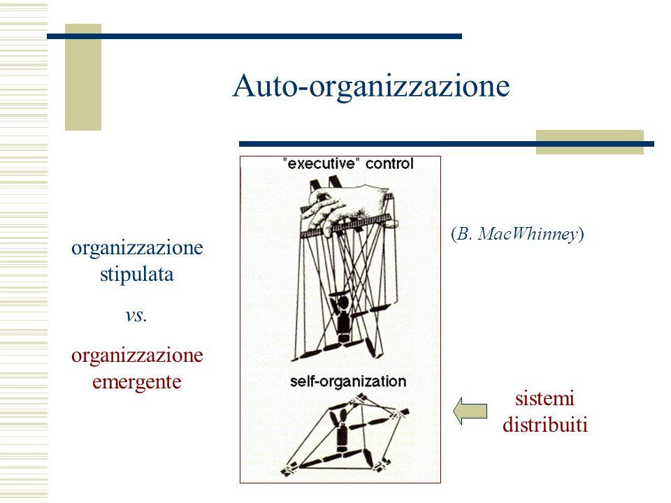Auto-organizzazione organizzazione stipulata vs. organizzazione emergente (B.