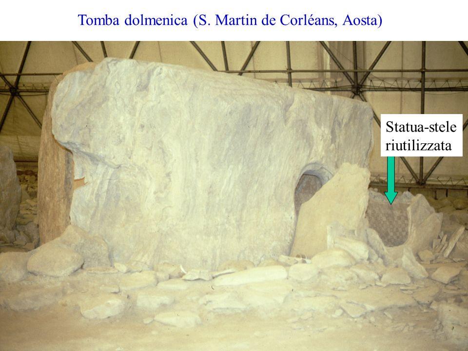 Tomba dolmenica (S. Martin de Corléans, Aosta) Statua-stele riutilizzata