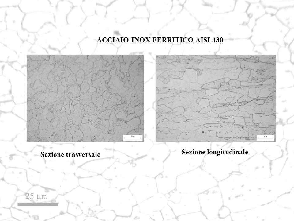 ACCIAIO INOX FERRITICO AISI 430 Sezione trasversale Sezione longitudinale