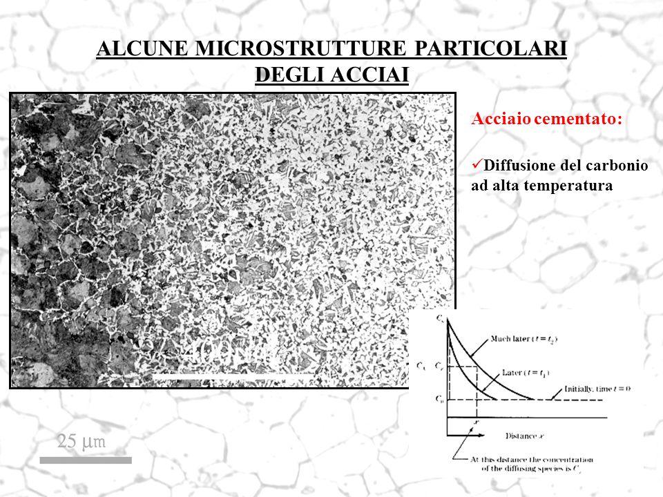 ALCUNE MICROSTRUTTURE PARTICOLARI DEGLI ACCIAI Acciaio cementato: Diffusione del carbonio ad alta temperatura