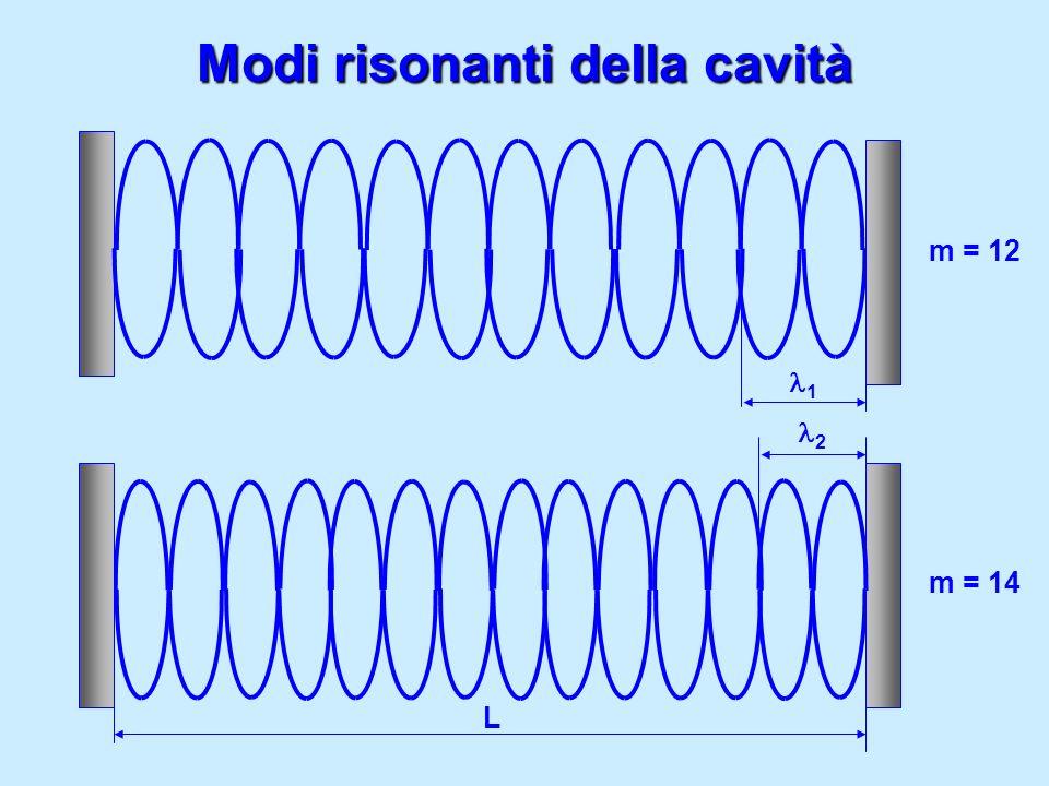 Modi risonanti della cavità m = 12 m = 14 1 L 2