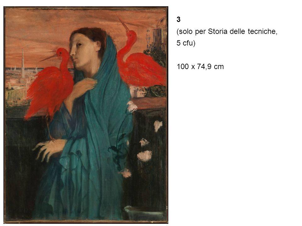 3 (solo per Storia delle tecniche, 5 cfu) 100 x 74,9 cm
