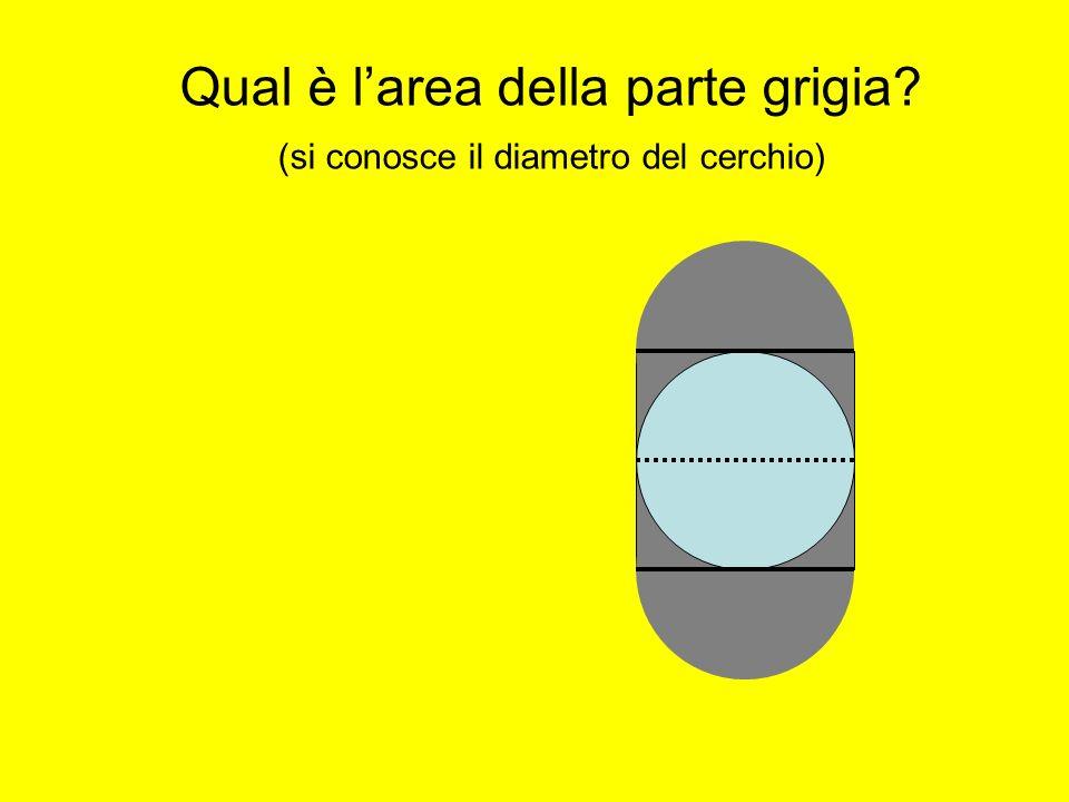 Qual è larea della parte grigia? (si conosce il diametro del cerchio)
