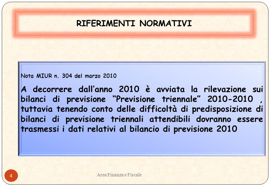 Area Finanza e Fiscale 3 RIFERIMENTI NORMATIVI Decreto Ministeriale 3 luglio 2007 n.362 Attuazione art.