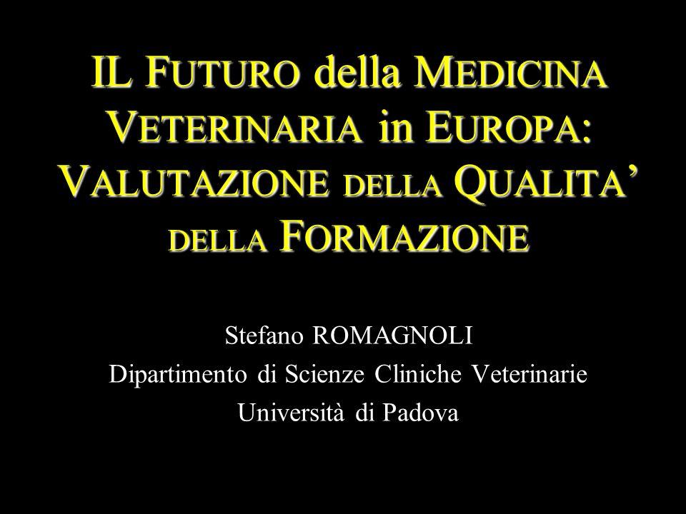 Direttiva CEE 78/1026 Requisiti minimi obbligatori per i curricula di Medicina VeterinariaRequisiti minimi obbligatori per i curricula di Medicina Veterinaria Direttiva CEE 78/1027 Omogeneità della formazione veterinaria nei paesi membri CEEOmogeneità della formazione veterinaria nei paesi membri CEE Direttiva CEE 78/1028 Istituisce l Advisory Committee on Veterinary Training (ACVT) – con funzione di aiutare la Commissione Europea ad individuare ed a mantenere in tutti gli stati membri CEE degli standard di qualità nella formazione dei medici veterinariIstituisce l Advisory Committee on Veterinary Training (ACVT) – con funzione di aiutare la Commissione Europea ad individuare ed a mantenere in tutti gli stati membri CEE degli standard di qualità nella formazione dei medici veterinari Direttiva UE 36/2005 Aggiorna i requisiti tecnico-didattici del corso di studi nonché gli standard di qualità nella formazione dei medici veterinariAggiorna i requisiti tecnico-didattici del corso di studi nonché gli standard di qualità nella formazione dei medici veterinari FORMAZIONE PRE-LAUREA in MEDICINA VETERINARIA IN EUROPA