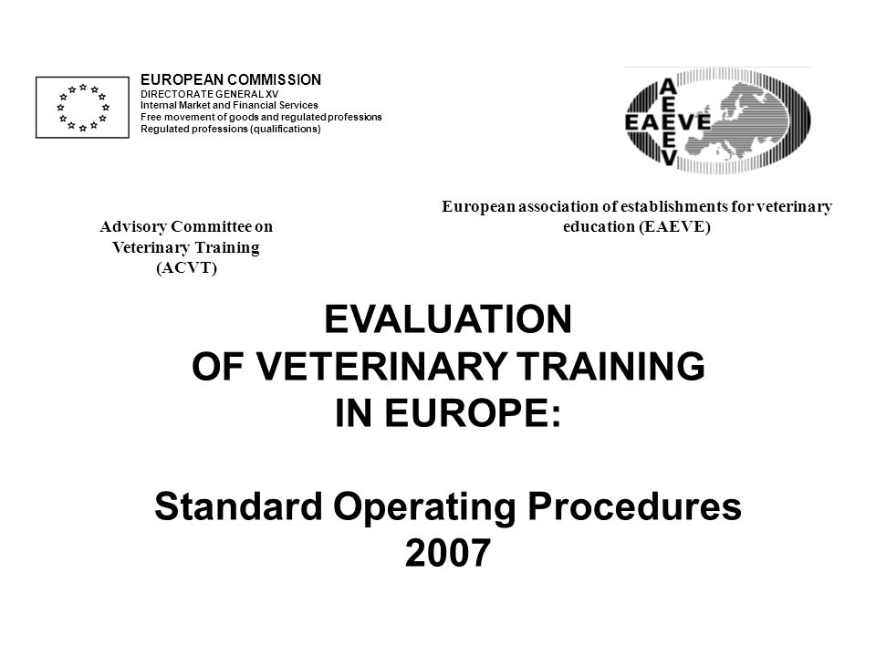 EUROPEAN COMMISSION DIRECTORATE GENERAL XV Internal Market and Financial Services Free movement of goods and regulated professions Regulated professio