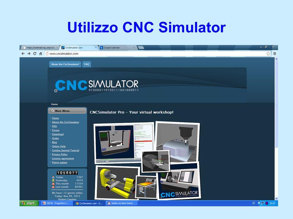 Utilizzo CNC Simulator