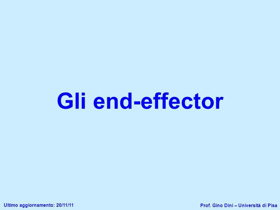 Gli end-effector Prof. Gino Dini – Università di Pisa Ultimo aggiornamento: 20/11/11