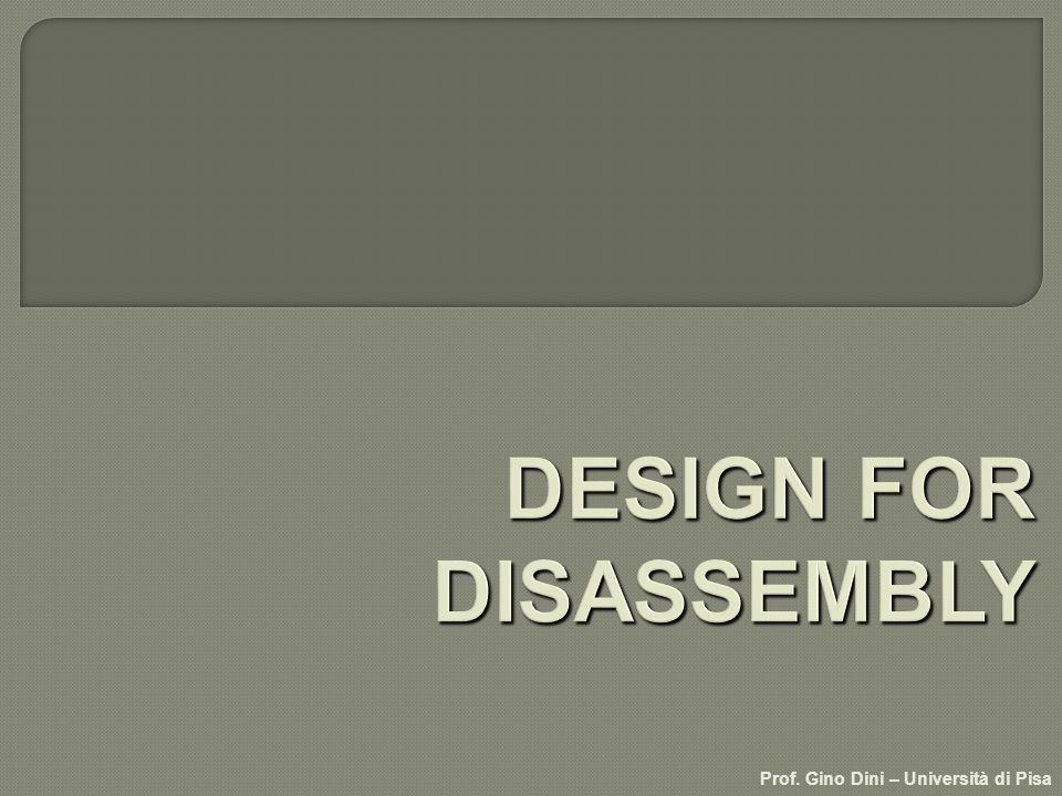 Insieme di regole per progettare particolari meccanici in modo da ridurre i costi di smontaggio