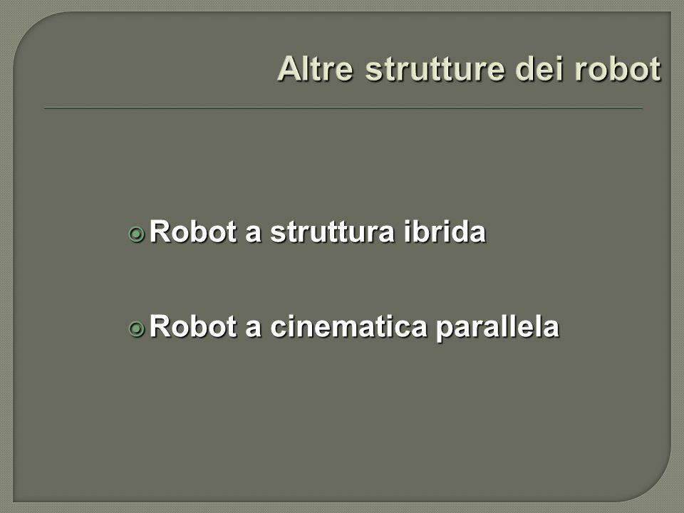 Robot a struttura ibrida Robot a struttura ibrida Robot a cinematica parallela Robot a cinematica parallela