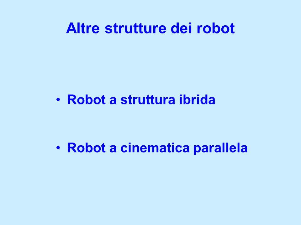 Robot a struttura ibrida Robot a cinematica parallela Altre strutture dei robot