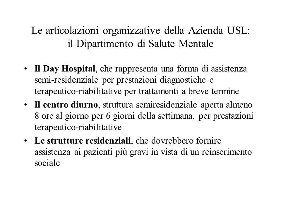 Il Day Hospital, che rappresenta una forma di assistenza semi-residenziale per prestazioni diagnostiche e terapeutico-riabilitative per trattamenti a