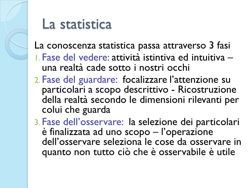 Completezza: Completeness is the extent to which statistics are available - compared to what it should be available - for meeting the requirements of the European Statistical System.