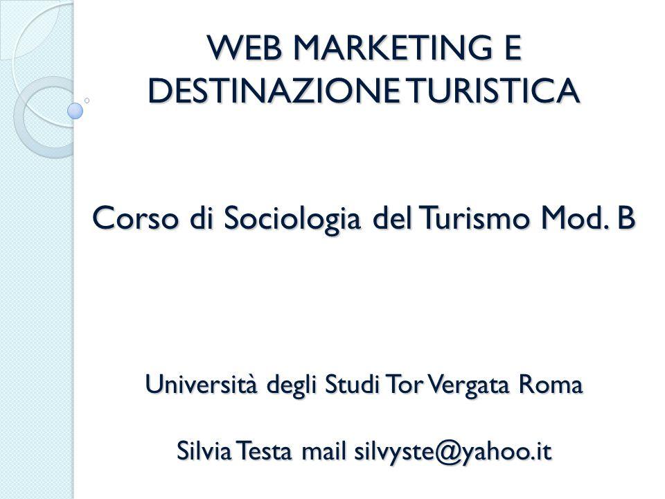PARTE OPERATIVA IN AULA Esempi di interazione sui social network tra aziende e turisti Esempi di marketing virale o wom