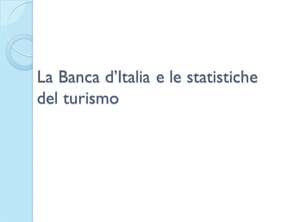 La Banca dItalia e le statistiche del turismo