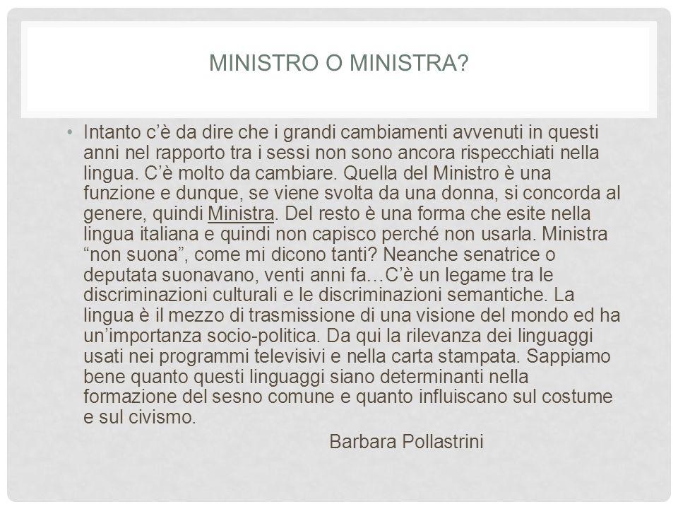 MINISTRO O MINISTRA.