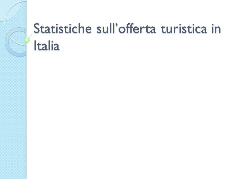 Statistiche sullofferta turistica in Italia