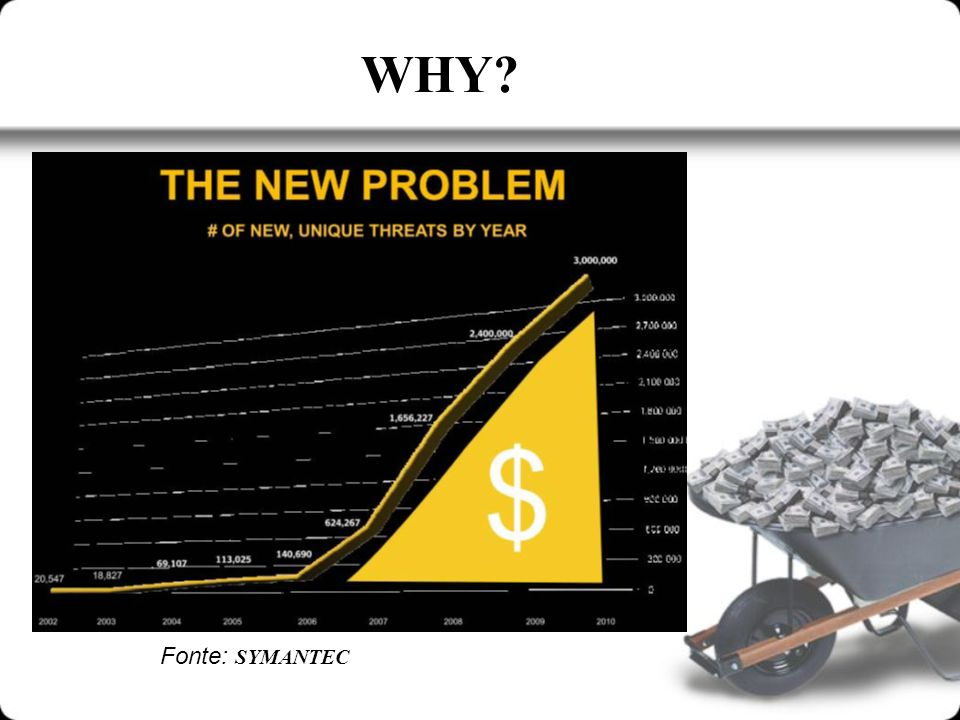 WHY? Fonte: SYMANTEC