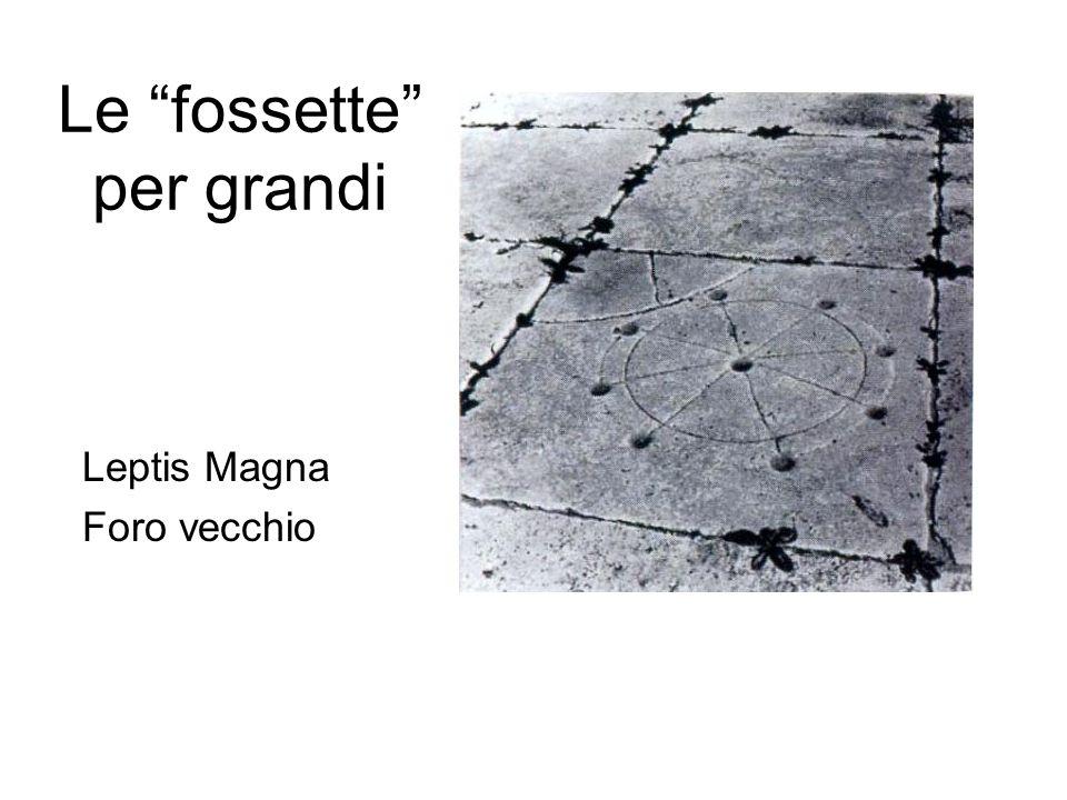 Le fossette per grandi Leptis Magna Foro vecchio