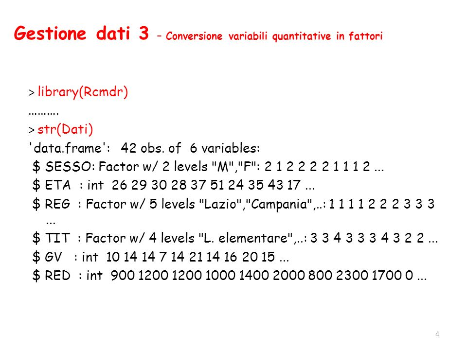 Analisi monovariata 10 – Variabili quantitative > var(GI_VAC) [1] 32.70906 > sd(GI_VAC) [1] 5.719183 > cv(GI_VAC) #richiede il pacchetto labstatR [1] 0.3714067 15