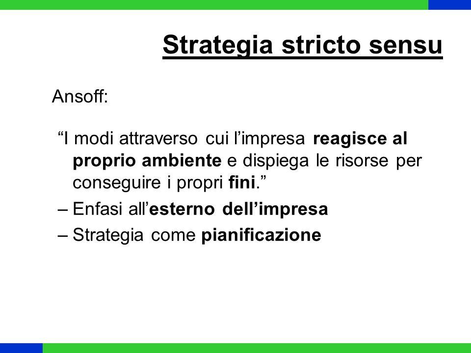 Secondo queste definizioni le strategie sono: Esplicite Sviluppate modo consapevole e con determinazione Preordinate rispetto alle azioni specifiche a cui si applica