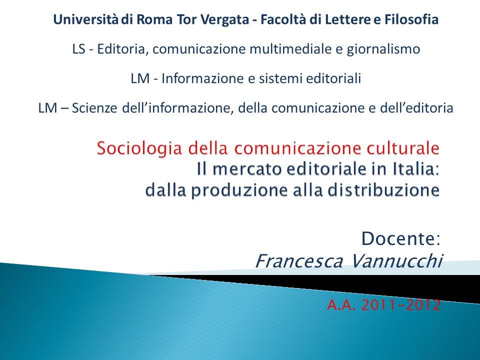 2 Alla fine degli Anni Dieci del Duemila il mercato editoriale italiano è dominato da cinque grandi gruppi: Mondadori, Rcs, GeMS, Giunti, Feltrinelli.