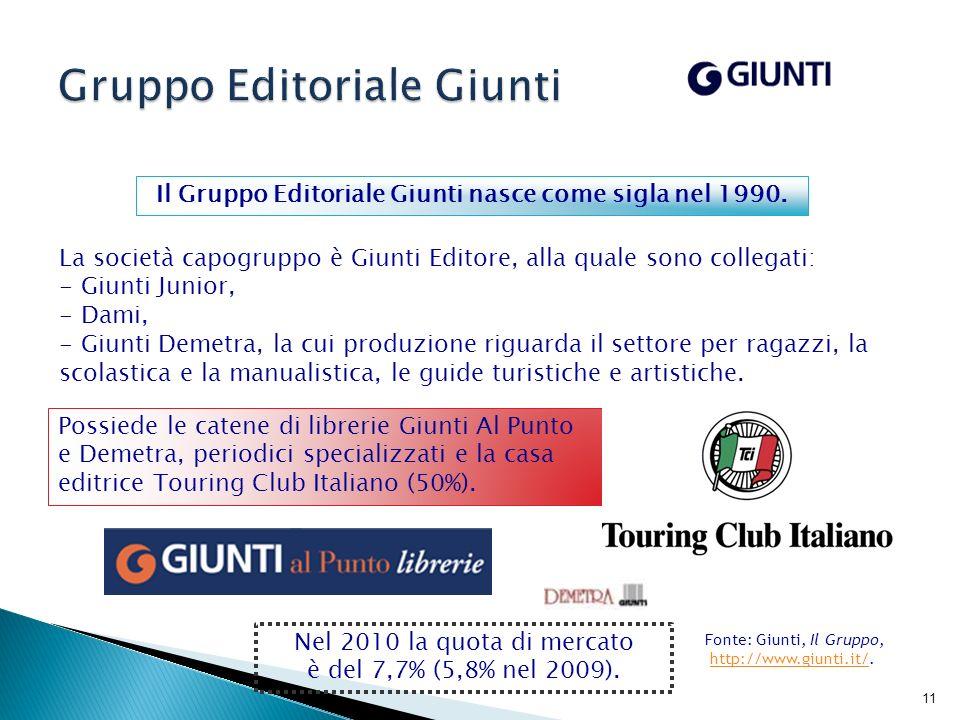 12 La storia del Gruppo Feltrinelli inizia negli Anni Cinquanta.