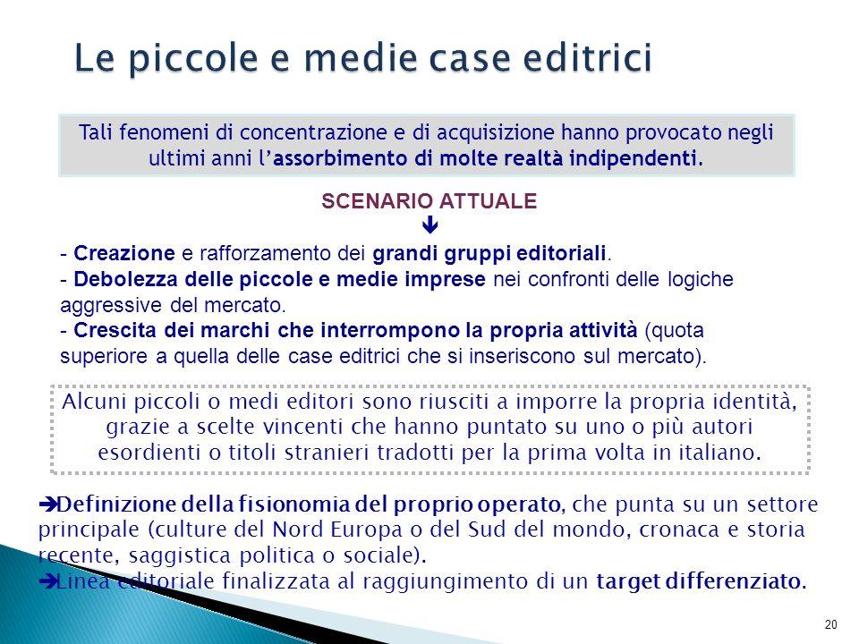 21 Fonte: Elaborazione su dati Istat, La produzione libraria.