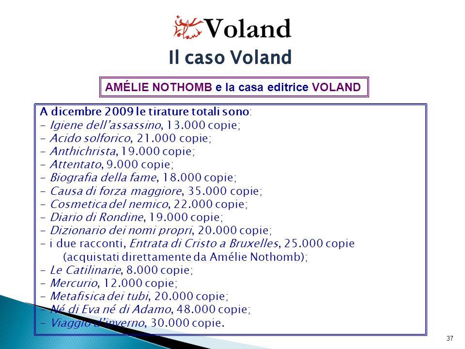 38 Nel 2010 sono ristampati: - Cosmetica del nemico, 2.000 copie; - Metafisica dei tubi, 2.000 copie; - Mercurio, 2.000 copie; - Dizionario dei nomi propri, 2.000 copie.
