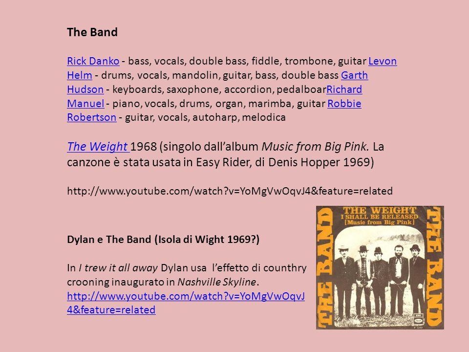 The Band Rick DankoRick Danko - bass, vocals, double bass, fiddle, trombone, guitar Levon Helm - drums, vocals, mandolin, guitar, bass, double bass Ga