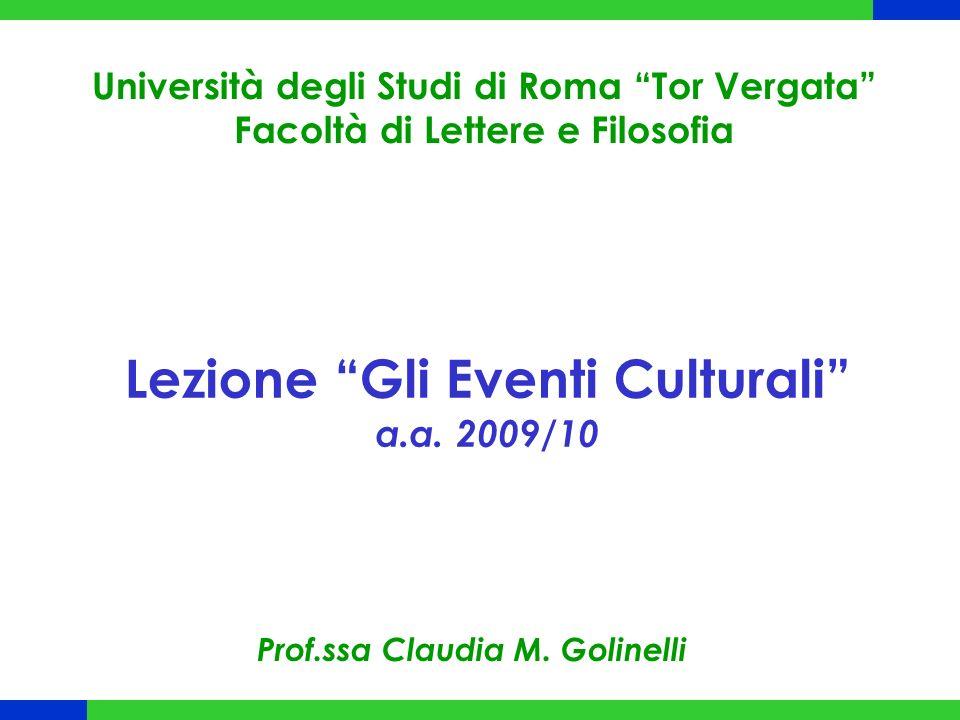 Fasi Ciclo di Vita Evento Culturale Fase 3 Pianificazione 1.