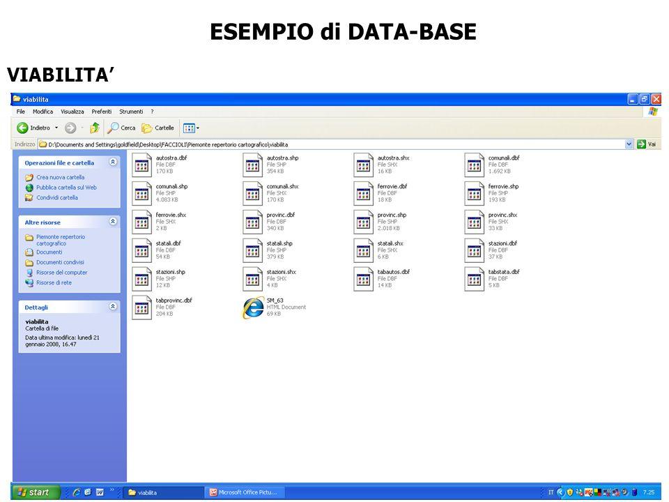 VIABILITA ESEMPIO di DATA-BASE
