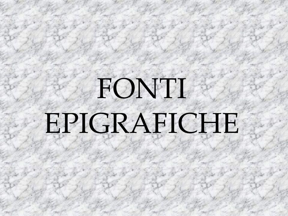 FONTI EPIGRAFICHE