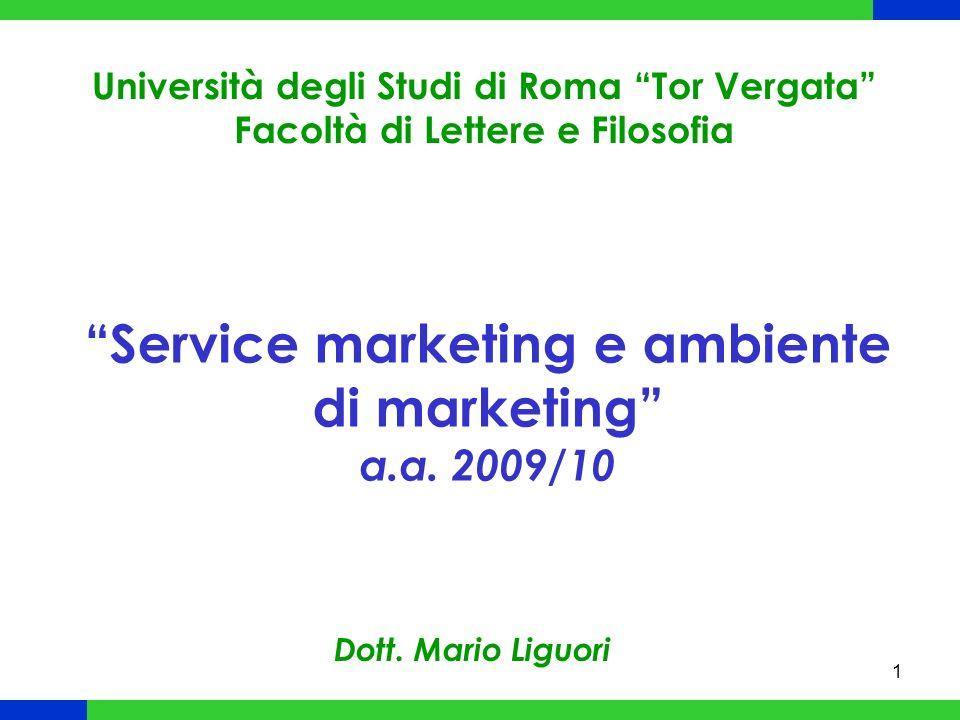 1 Service marketing e ambiente di marketing a.a.