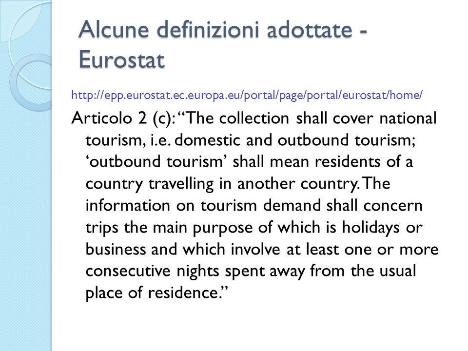 Alcune definizioni adottate - Eurostat http://epp.eurostat.ec.europa.eu/portal/page/portal/eurostat/home/ Articolo 2 (c): The collection shall cover n