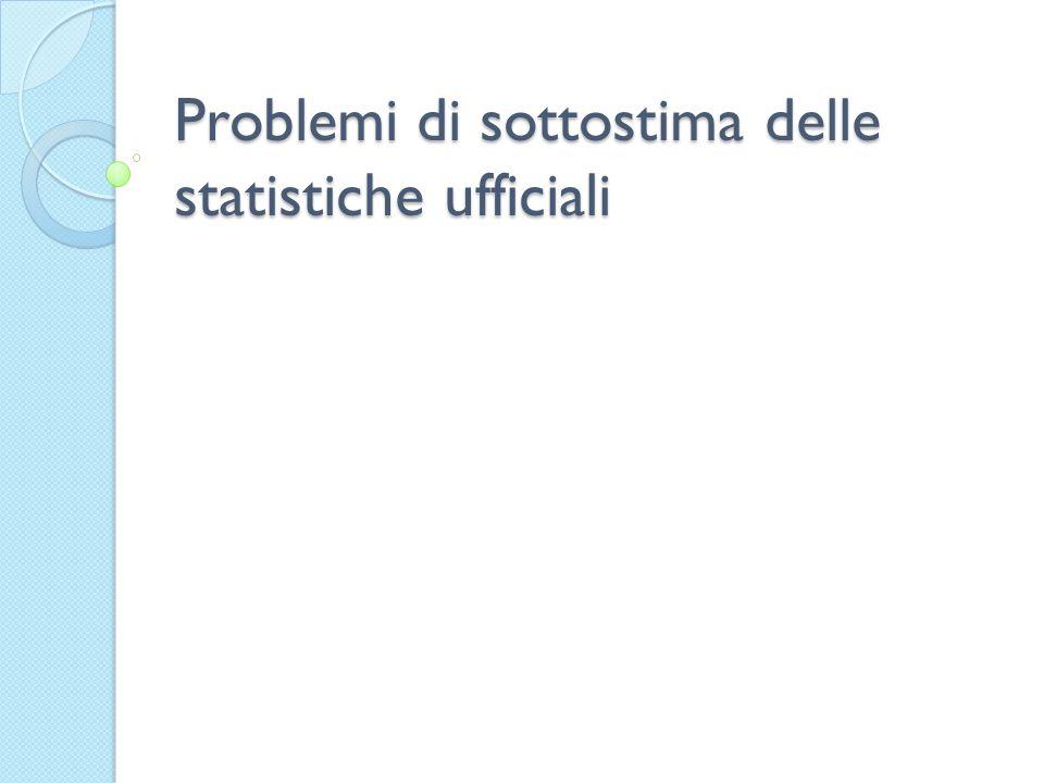 Problemi di sottostima delle statistiche ufficiali
