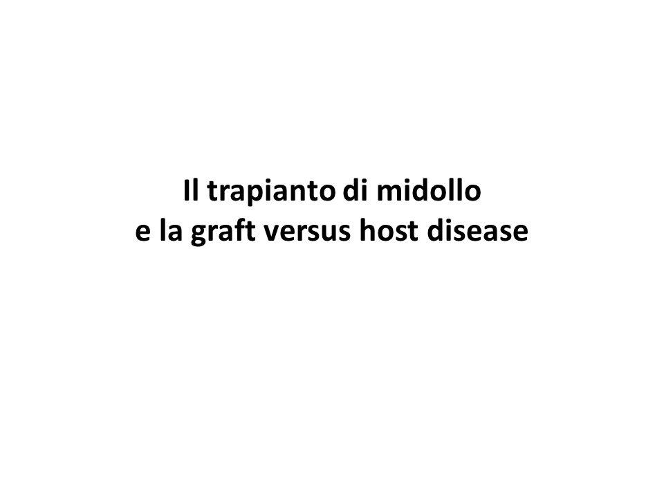 Il trapianto di midollo e la graft versus host disease