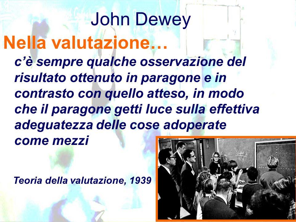 John Dewey cè sempre qualche osservazione del risultato ottenuto in paragone e in contrasto con quello atteso, in modo che il paragone getti luce sull