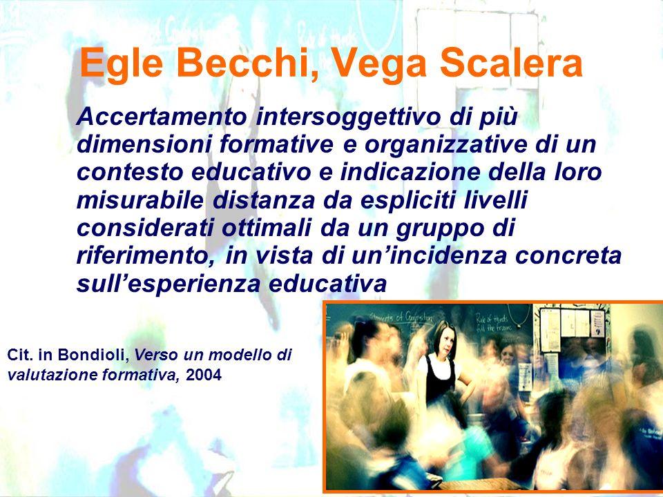 Egle Becchi, Vega Scalera Accertamento intersoggettivo di più dimensioni formative e organizzative di un contesto educativo e indicazione della loro m