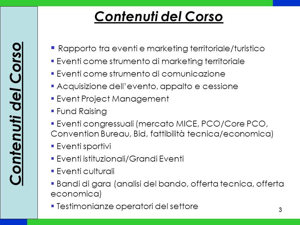3 Rapporto tra eventi e marketing territoriale/turistico Eventi come strumento di marketing territoriale Eventi come strumento di comunicazione Acquis