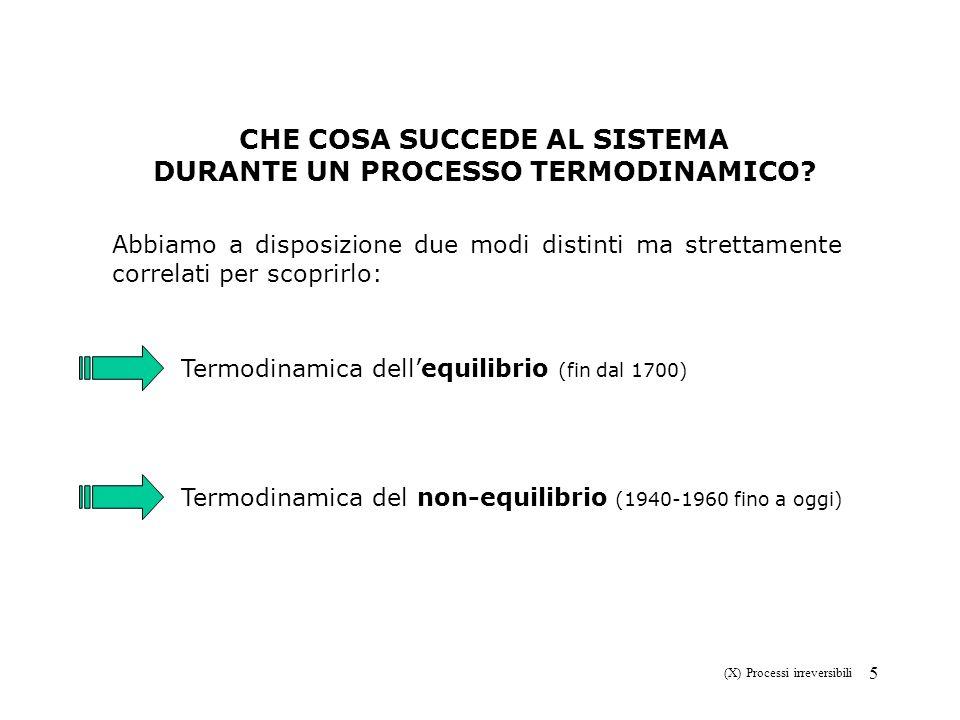 26 (X) Processi irreversibili Esempio di sistema chiuso con due regioni chiuse in stato stazionario.