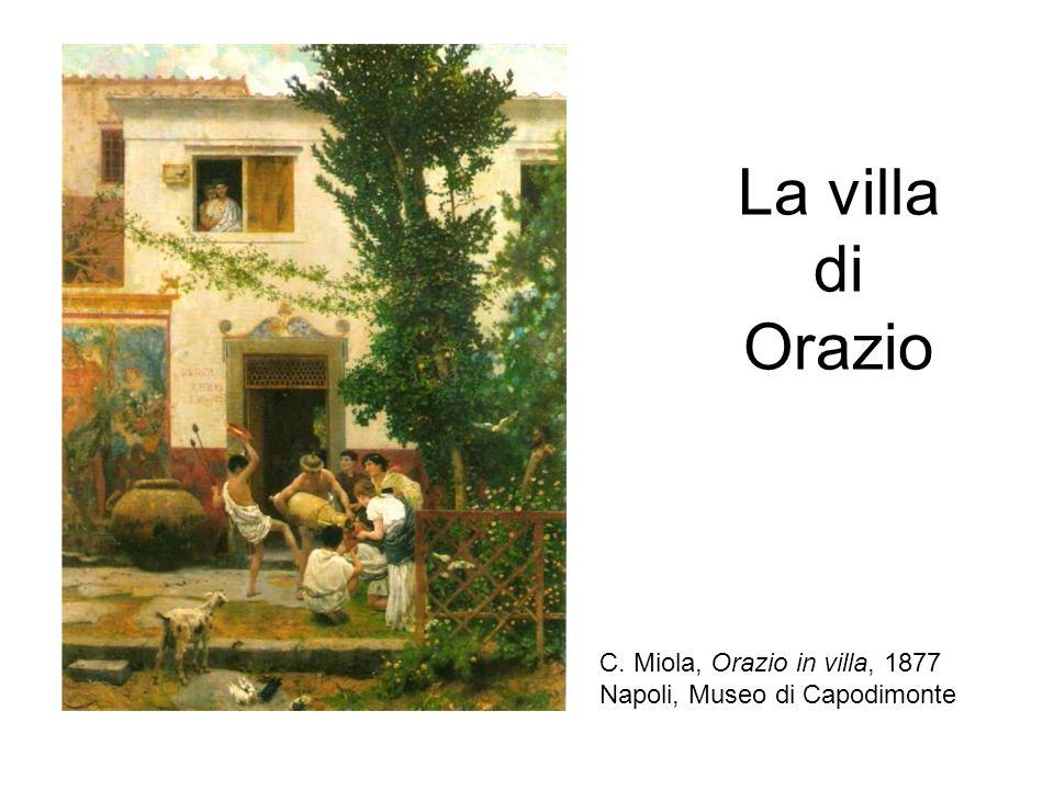 La villa di Orazio C. Miola, Orazio in villa, 1877 Napoli, Museo di Capodimonte