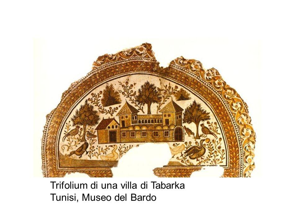 Trifolium di una villa di Tabarka Tunisi, Museo del Bardo
