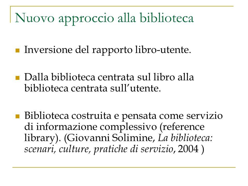 Nuovo approccio alla biblioteca Inversione del rapporto libro-utente.