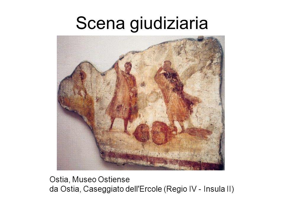 Scena giudiziaria Ostia, Museo Ostiense da Ostia, Caseggiato dell'Ercole (Regio IV - Insula II)