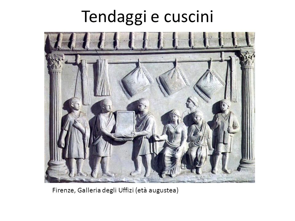 Firenze, Galleria degli Uffizi (età augustea) Tendaggi e cuscini