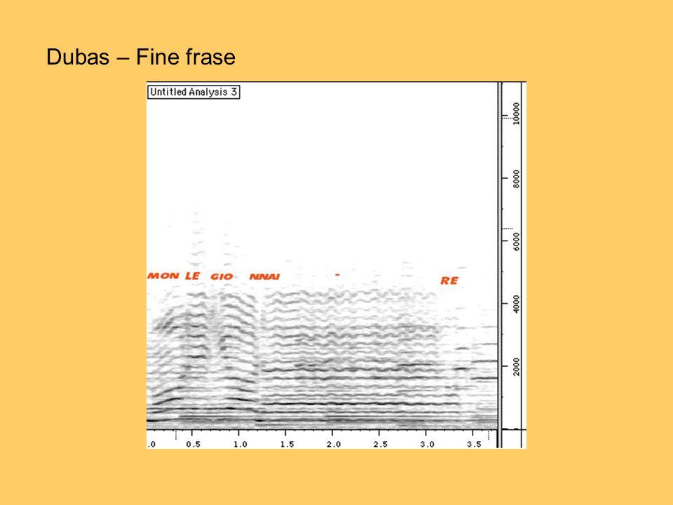 Dubas – Fine frase