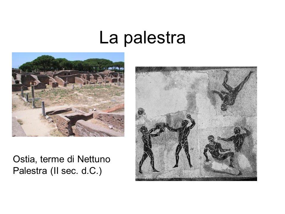 La palestra Ostia, terme di Nettuno Palestra (II sec. d.C.)