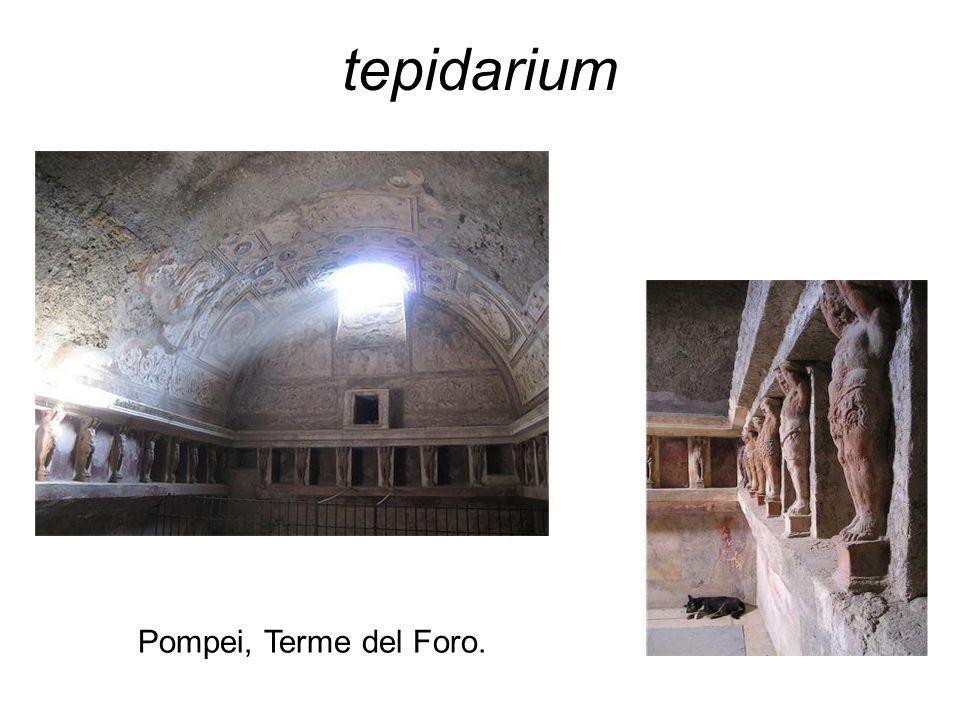 tepidarium Pompei, Terme del Foro.